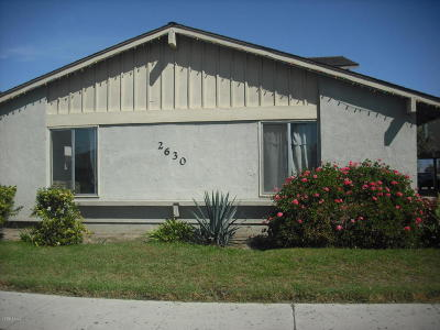 Oxnard Single Family Home For Sale: 2630 B El Dorado Avenue