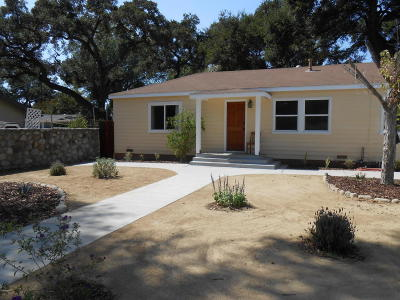 Ojai Single Family Home For Sale: 215 Poli Street