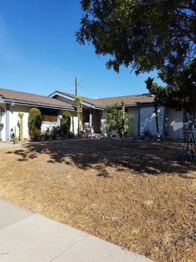 Camarillo Single Family Home Active Under Contract: 1875 Dunnigan Street