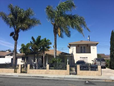 Oxnard Single Family Home Active Under Contract: 1359 W Date Street