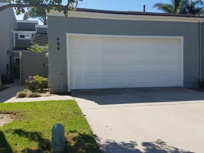 Port Hueneme Single Family Home Active Under Contract: 494 Harbor Lights Lane