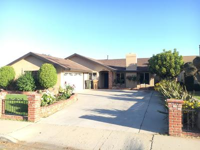 Santa Paula Single Family Home Active Under Contract: 722 W Santa Paula Street