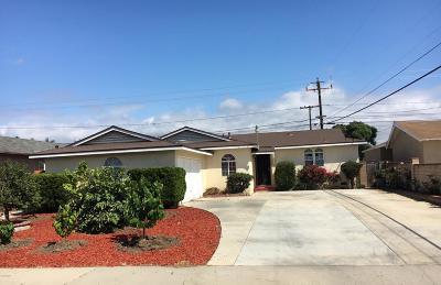 Oxnard Single Family Home For Sale: 1718 S E Street