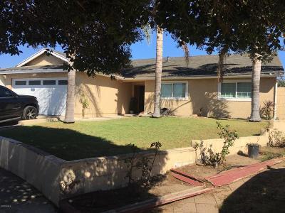 Oxnard Single Family Home For Sale: 2064 Falkner Place