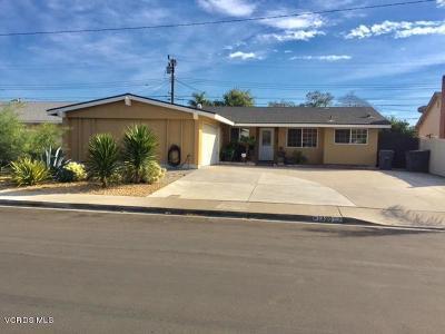 Oxnard Single Family Home For Sale: 1320 Bluebell Street