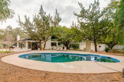 Ojai Single Family Home For Sale: 608 Del Norte Road