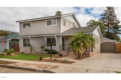 Ventura Single Family Home For Sale: 246 S Joanne Avenue