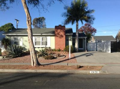 Ventura CA Single Family Home For Sale: $595,000