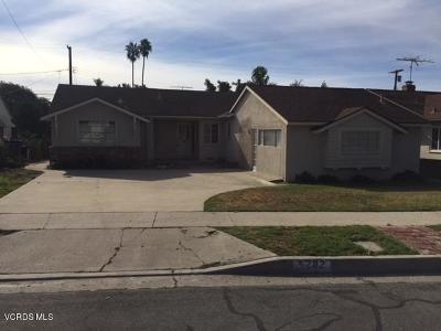 Ventura CA Single Family Home For Sale: $499,000