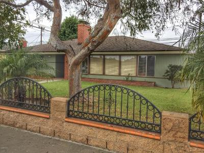 Oxnard Single Family Home For Sale: 815 W Roderick Avenue