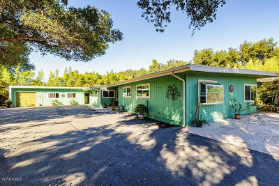 Ojai Single Family Home For Sale: 1726 S Rice Road