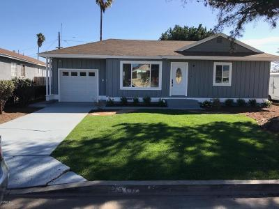 Oxnard Single Family Home For Sale: 380 Occidental Drive