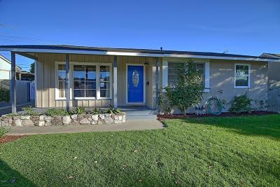 Ventura Single Family Home For Sale: 472 Rancho Drive