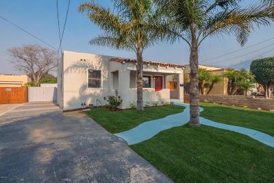 Ventura Single Family Home For Sale: 123 W Center Street