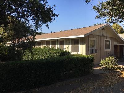 Ojai Multi Family Home Active Under Contract: 1211 Cruzero Street