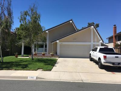 Camarillo Single Family Home For Sale: 5967 Heritage Place
