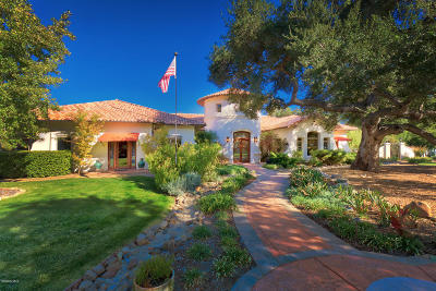 Ojai Single Family Home For Sale: 861 Oak Grove Court