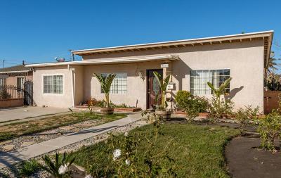 Oxnard Single Family Home For Sale: 311 W Elm Street