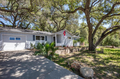 Ojai CA Single Family Home For Sale: $585,777