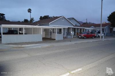 Santa Paula Multi Family Home For Sale: 405 E Harvard Boulevard