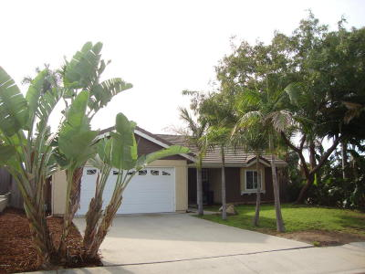 Ventura Single Family Home For Sale: 6414 Kingfisher Place