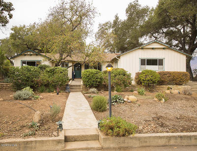 Ojai CA Single Family Home For Sale: $890,000