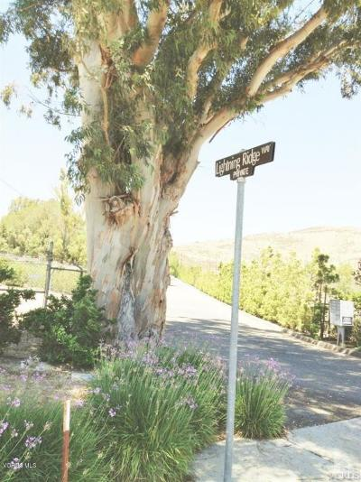 Ventura County Residential Lots & Land For Sale: 3900 Lightning Ridge Way