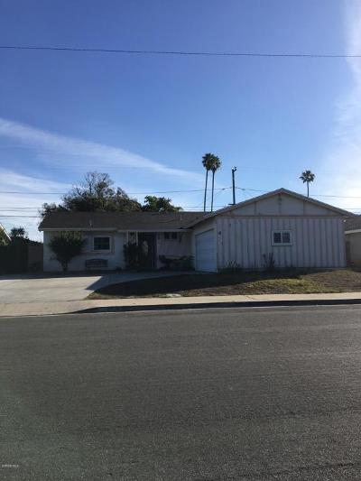 Ventura County Single Family Home Active Under Contract: 3520 S F Street