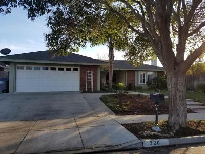 Oxnard Single Family Home Active Under Contract: 320 Geranium Place