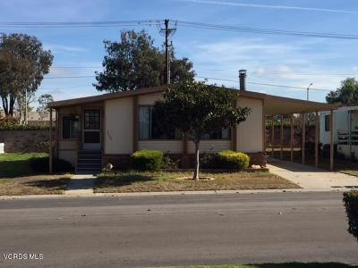 Oxnard Mobile Home Active Under Contract: 2408 Apple Lane #154