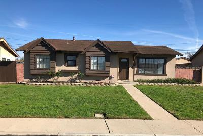 Oxnard Single Family Home For Sale: 4630 S A Street