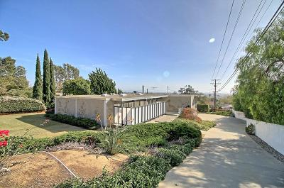 Ventura Single Family Home For Sale: 3694 Foothill Road