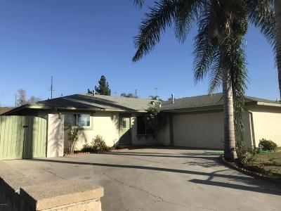 Fillmore Single Family Home For Sale: 610 Yucca Drive