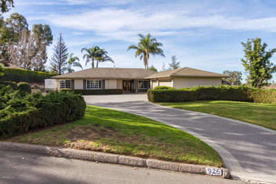 Camarillo Single Family Home Active Under Contract: 926 Sudario Court