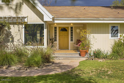 Ojai CA Single Family Home For Sale: $1,239,000