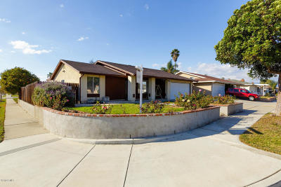 Oxnard CA Single Family Home Active Under Contract: $499,000