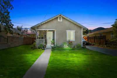Fillmore Single Family Home For Sale: 739 A Street