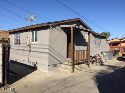 Oxnard Single Family Home For Sale: 401 McKinley Avenue #1/2
