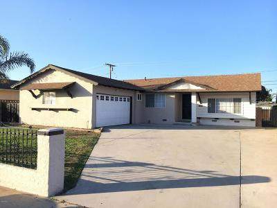 Oxnard Single Family Home For Sale: 1851 S F Street