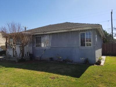 Oxnard Single Family Home Active Under Contract: 344 E Juniper Street