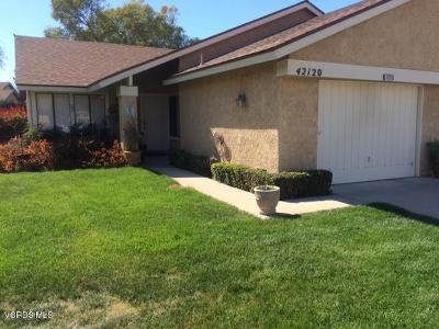 Camarillo Single Family Home Active Under Contract: 42120 Village 42