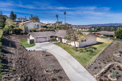 Camarillo Single Family Home For Sale: 1081 Valley Vista Drive
