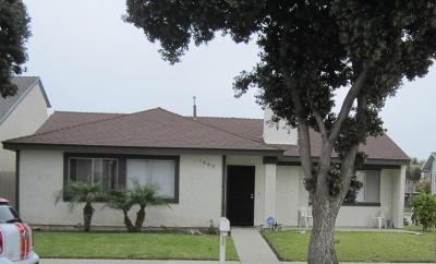Oxnard Single Family Home For Sale: 1860 Lookout Drive