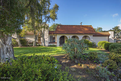 Ojai CA Single Family Home For Sale: $699,000