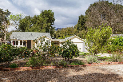 Ojai CA Single Family Home For Sale: $599,000