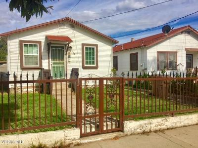 Santa Paula Multi Family Home For Sale: 521-523 Oak Street