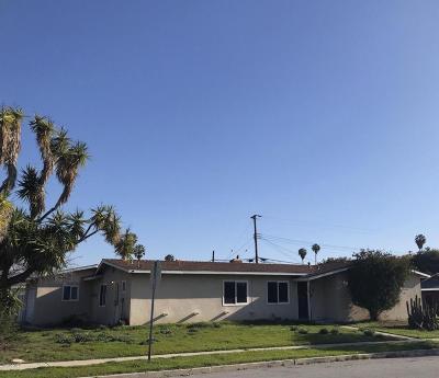 Camarillo Single Family Home Active Under Contract: 2509 Dumetz Street