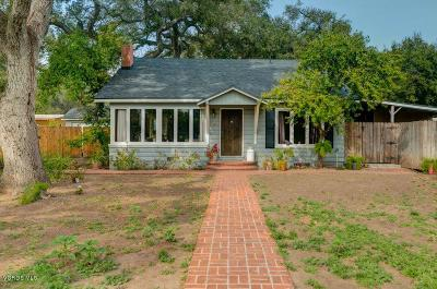 Ojai Single Family Home Active Under Contract: 706 Mesa Drive
