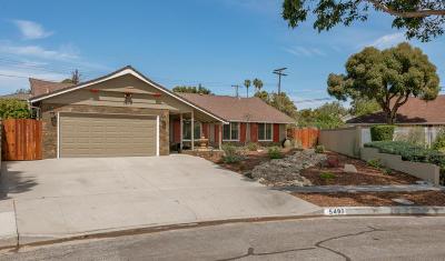 Ventura Single Family Home Active Under Contract: 5497 Queens Street