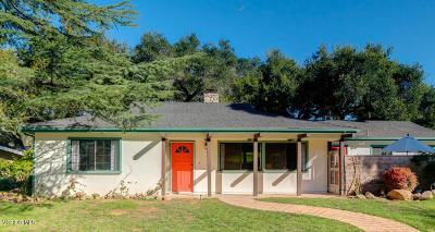Ojai Single Family Home Active Under Contract: 1111 Arcata Road
